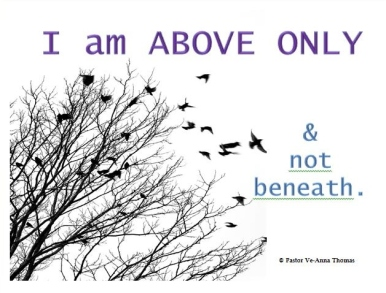 I am above only and not beneath