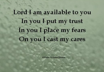 Lord I am available