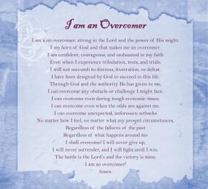 Prayer - I Am an Overcomer