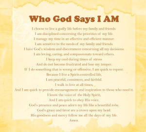 Prayer - Who God says I am