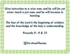 Proverbs 9-9,10