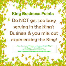 Sermon Photo - I came on Business for the King 3