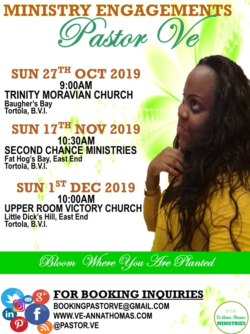 VTM Flyer - Speaking Engagements (Fall 2019)