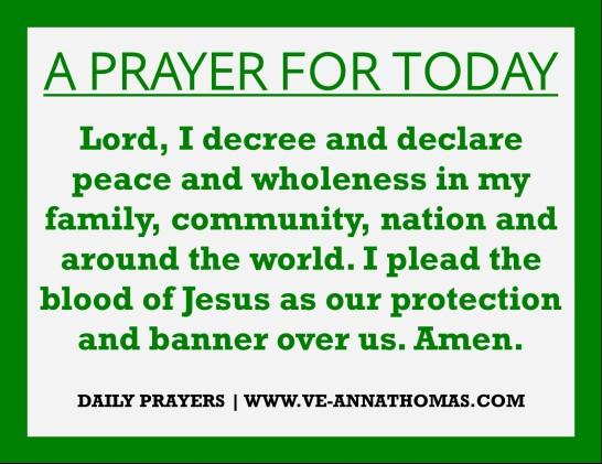 Prayer for Today - Fri 14 Aug 2020