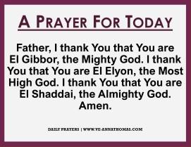 Prayer for Today - Fri 16 Oct 2020