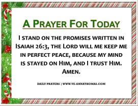 Prayer for Today - Fri 18 Dec 2020