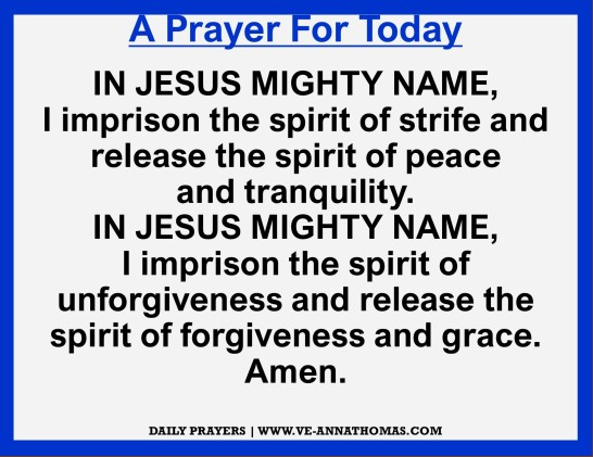 Prayer for Today - Fri 20 Nov 2020