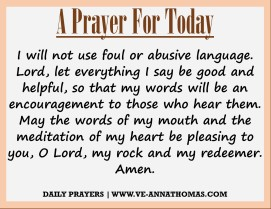 Prayer for Today - Fri 21 Aug 2020
