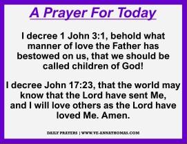 Prayer for Today - Fri 23 Oct 2020