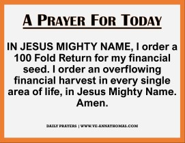 Prayer for Today - Fri 27 Nov 2020