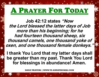 Prayer for Today - Fri 4 Dec 2020