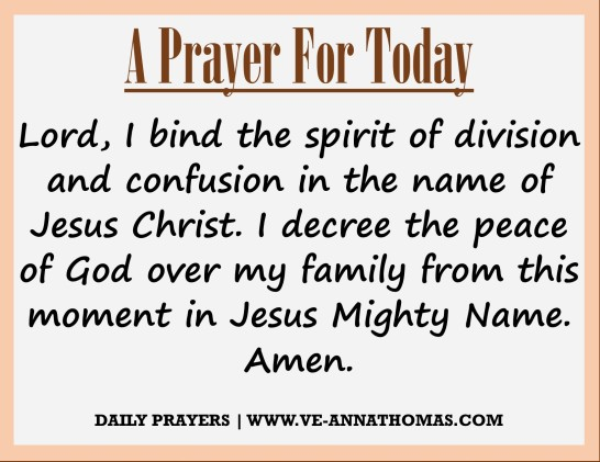 Prayer for Today - Fri 4 Sept 2020