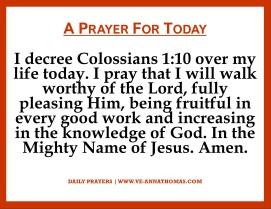 Prayer for Today - Fri 6 Nov 2020
