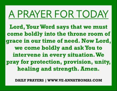 Prayer for Today - Mon 10 Aug 2020