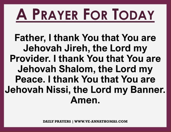 Prayer for Today - Mon 12 Oct 2020