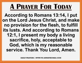 Prayer for Today - Mon 23 Nov 2020