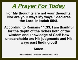 Prayer for Today - Mon 26 Oct 2020