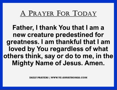 Prayer for Today - Mon 5 Oct 2020