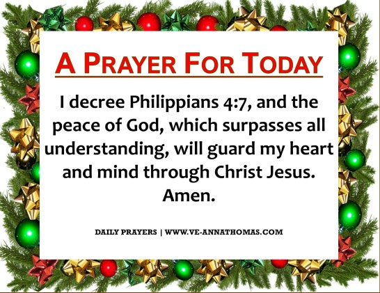 Prayer for Today - Mon 7 Dec 2020