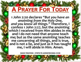 Prayer for Today - Sat 12 Dec 2020