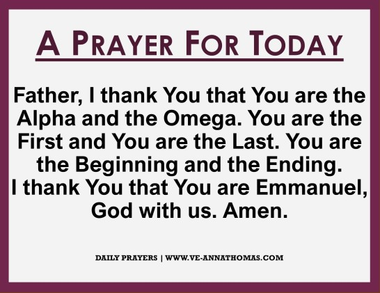 Prayer for Today - Sat 17 Oct 2020