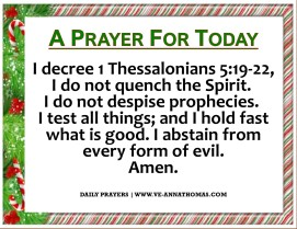 Prayer for Today - Sat 18 Dec 2020
