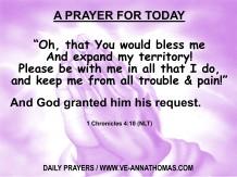 Prayer for Today - Sat 2 Aug 2020 - Prayer of Jabez (NLT)