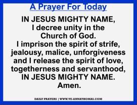 Prayer for Today - Sat 21 Nov 2020