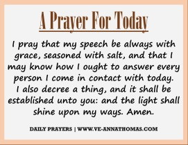 Prayer for Today - Sat 22 Aug 2020