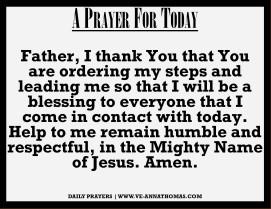 Prayer for Today - Sat 26 Sept 2020