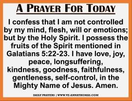 Prayer for Today - Sat 28 Nov 2020