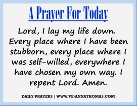 Prayer for Today - Sat 29 Aug 2020