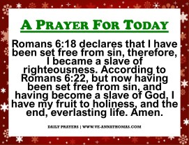 Prayer for Today - Sat 4 Dec 2020