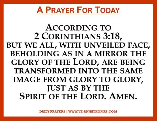 Prayer for Today - Sat 7 Nov 2020