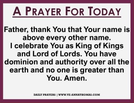 Prayer for Today - Sun 11 Oct 2020