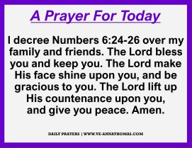 Prayer for Today - Sun 18 Oct 2020
