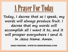 Prayer for Today - Sun 23 Aug 2020