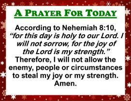 Prayer for Today - Sun 29 Nov 2020