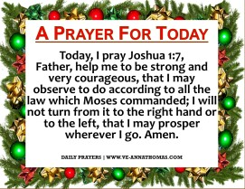 Prayer for Today - Sun 6 Dec 2020
