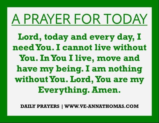 Prayer for Today - Sun 9 Aug 2020