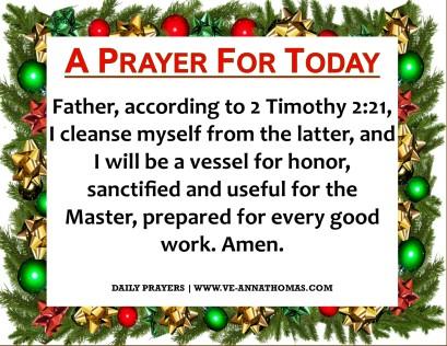 Prayer for Today - Thurs 10 Dec 2020