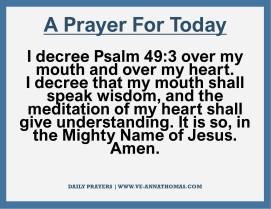 Prayer for Today - Thurs 12 Nov 2020