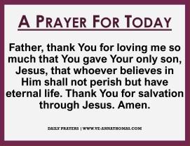 Prayer for Today - Thurs 15 Oct 2020