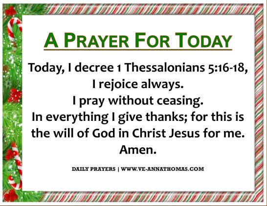 Prayer for Today - Thurs 17 Dec 2020