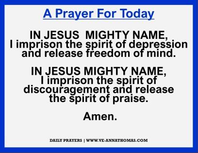 Prayer for Today - Thurs 19 Nov 2020