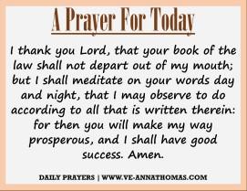 Prayer for Today - Thurs 20 Aug 2020