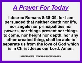 Prayer for Today - Thurs 22 Oct 2020