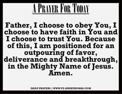 Prayer for Today - Thurs 24 Sept 2020