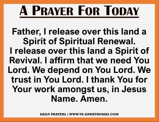 Prayer for Today - Thurs 26 Nov 2020