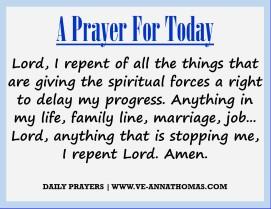 Prayer for Today - Thurs 27 Aug 2020